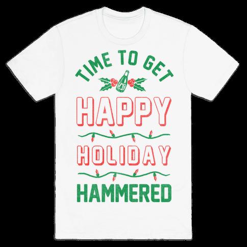 Happy Holiday Hammered Mens T-Shirt