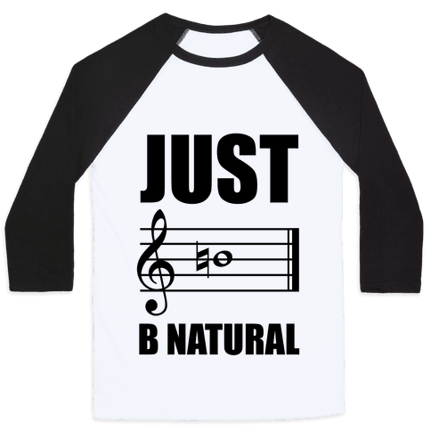 Just B Natural Baseball Tee