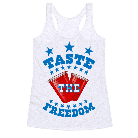 Taste the FREEDOM Racerback Tank Top