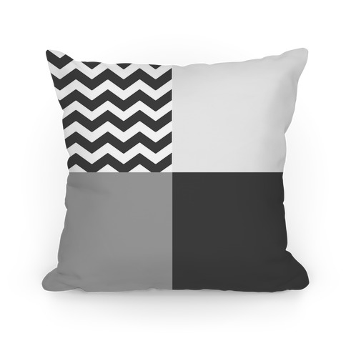 Gray Color Block Pillow