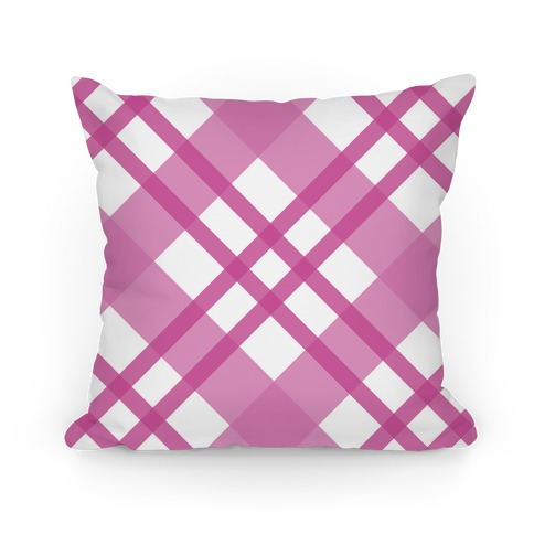 Pink Plaid Pillow Pillow