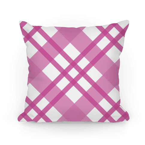 Pink Plaid Pillow