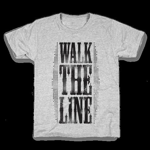 Walk The Line (Tank) Kids T-Shirt