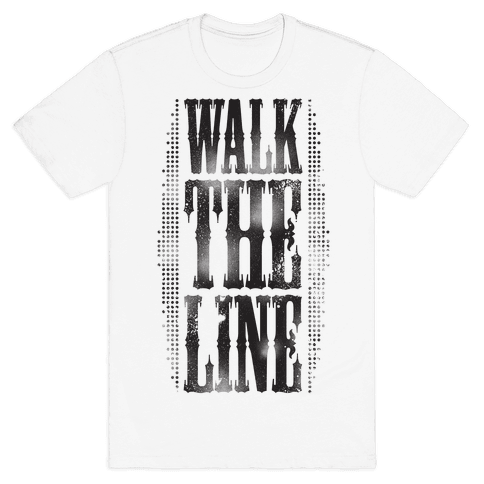 Walk The Line (Tank) Mens T-Shirt