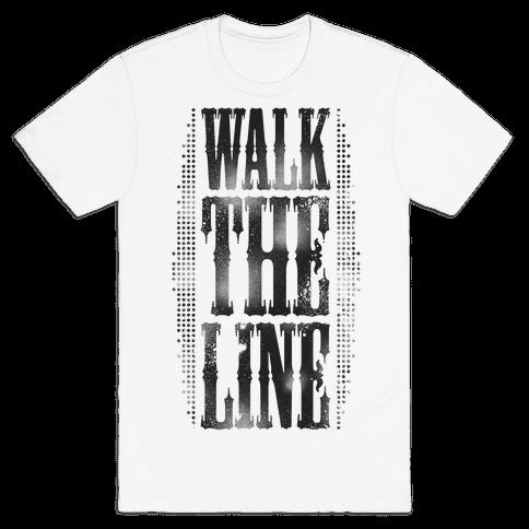 Walk The Line (Tank) Mens T-Shirt