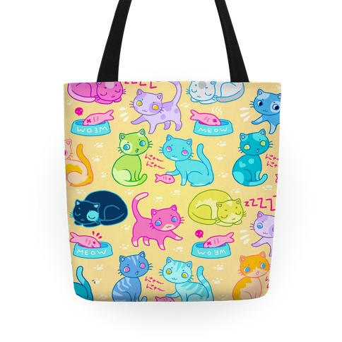 Cutie Cat pattern Tote