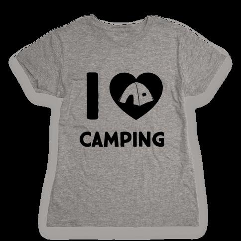 I Heart Camping Womens T-Shirt