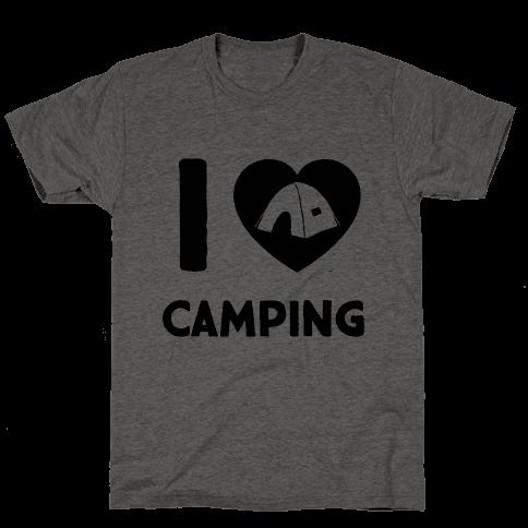 I Heart Camping Mens T-Shirt