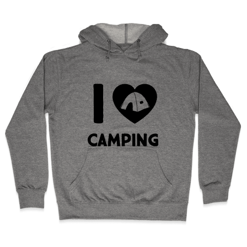 I Heart Camping Hooded Sweatshirt