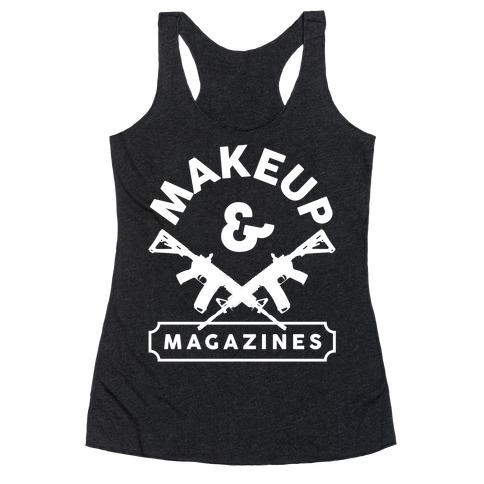 Makeup And Magazines Racerback Tank Top