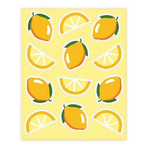 Lemons Sticker and Decal Sheet