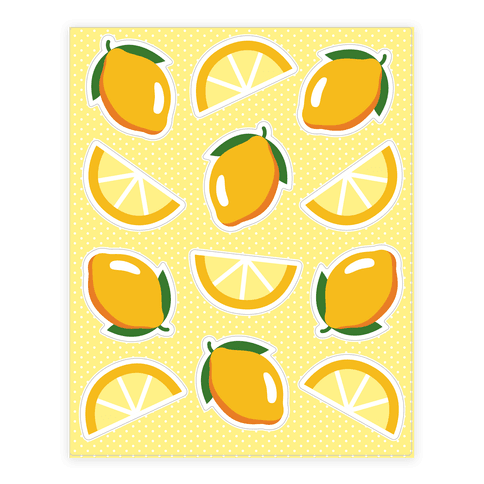 Lemons Sticker/Decal Sheet