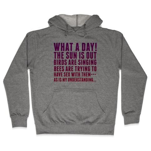 What a Day Hooded Sweatshirt