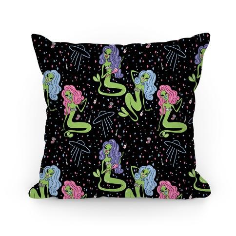 Mermaid Martians Pillow