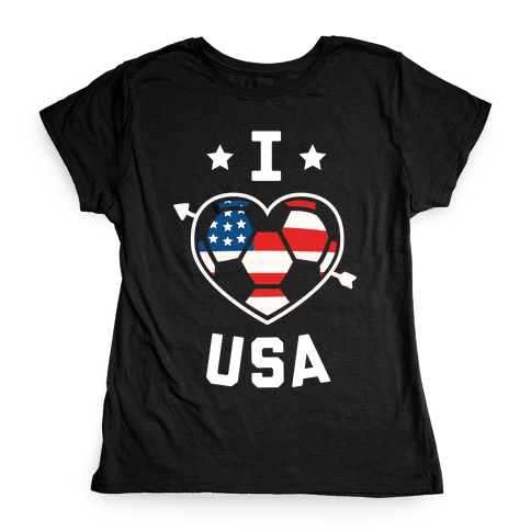 I Love USA (Soccer) Womens T-Shirt