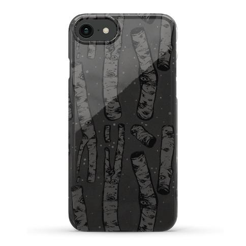 Birch Trees and Runes Phone Case