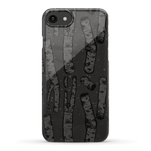 Birch Trees and Runes Phone Case