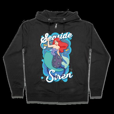 Seaside Siren Zip Hoodie