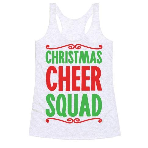 Christmas Cheer Squad Racerback Tank Top