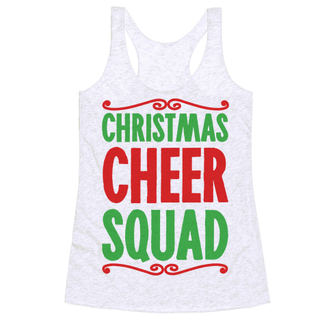 Christmas Cheer Squad Racerback Tank Top