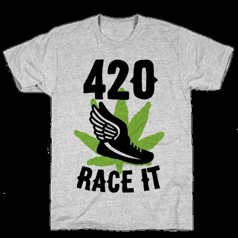 420 Race It Mens T-Shirt