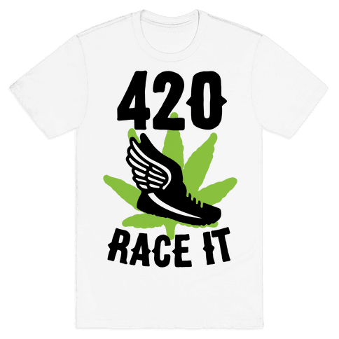 420 Race It Mens T-Shirt
