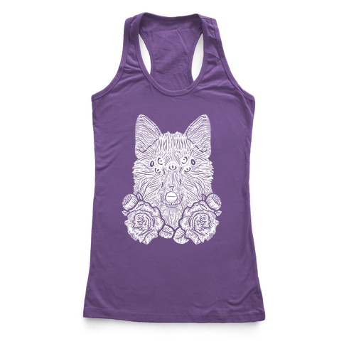 Seven Eyed Fox Racerback Tank Top