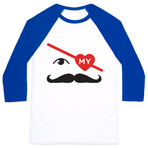 Gotta Love the Stache' Baseball Tee