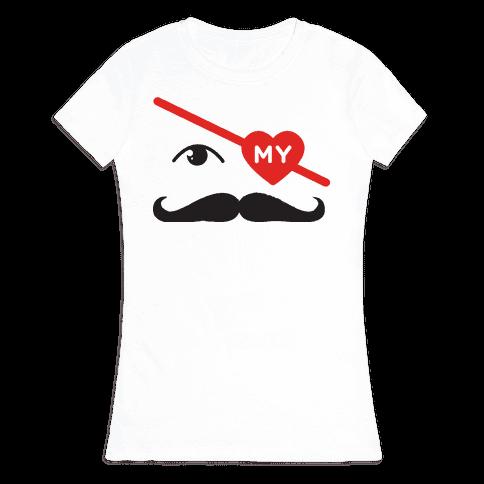 Gotta Love the Stache' Womens T-Shirt