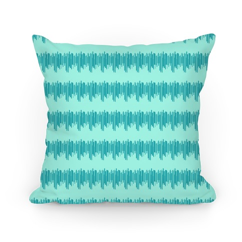 Teal Radio Wave Pattern Pillow