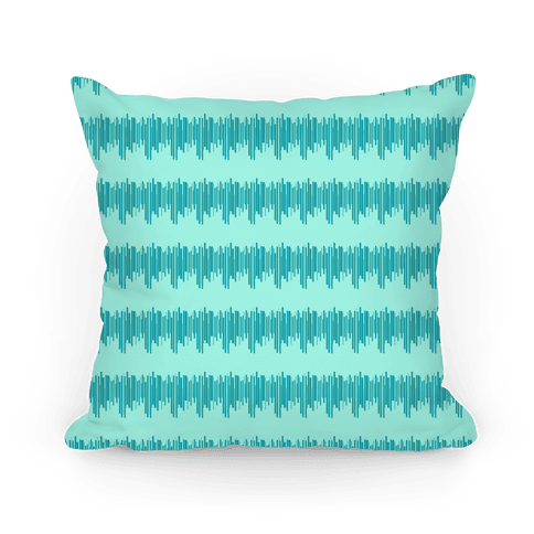 Teal Radio Wave Pattern