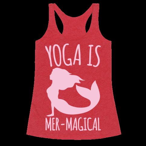 Yoga Is Mer-Magical White Print