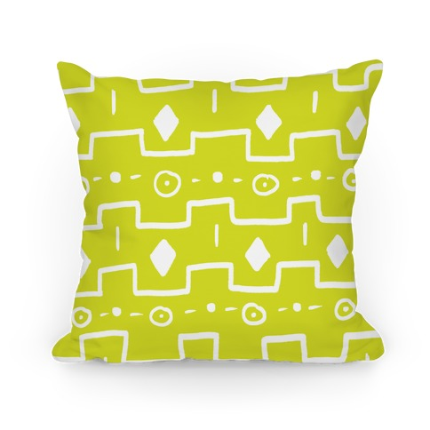 Yellow Green Tribal Doodle Pattern
