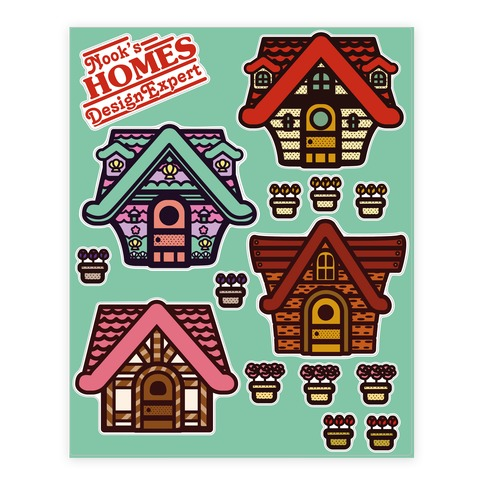 Nook's Homes Sticker and Decal Sheet