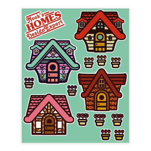 Nook's Homes  Sticker/Decal Sheet
