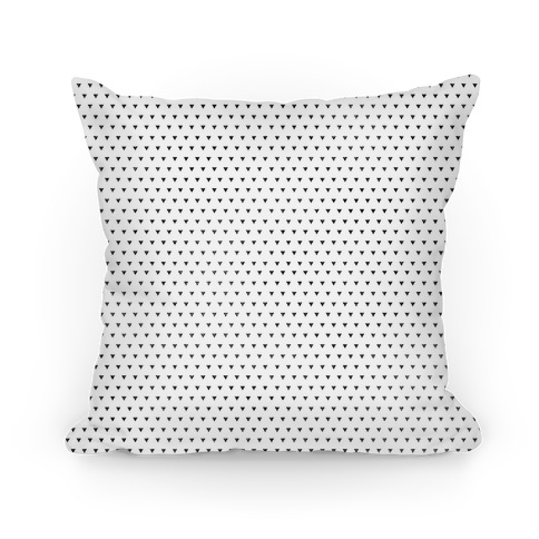 Black Triangle Pattern Pillow