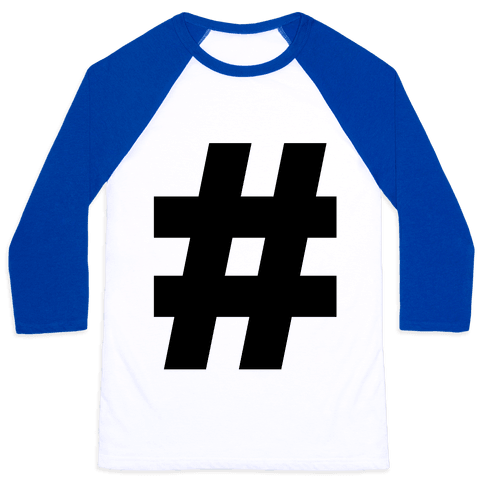 Hashtag Baseball Tee