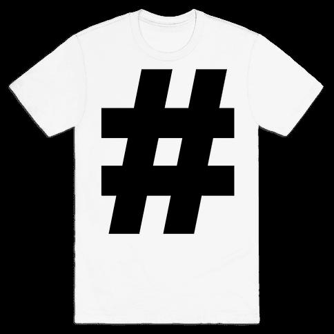 Hashtag Mens T-Shirt