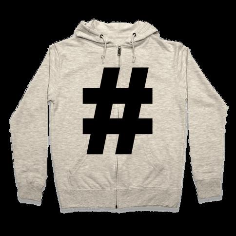 Hashtag Zip Hoodie