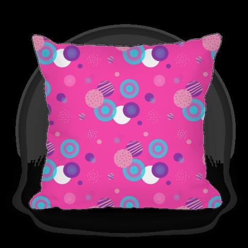 Pink Radials and Circles Pattern