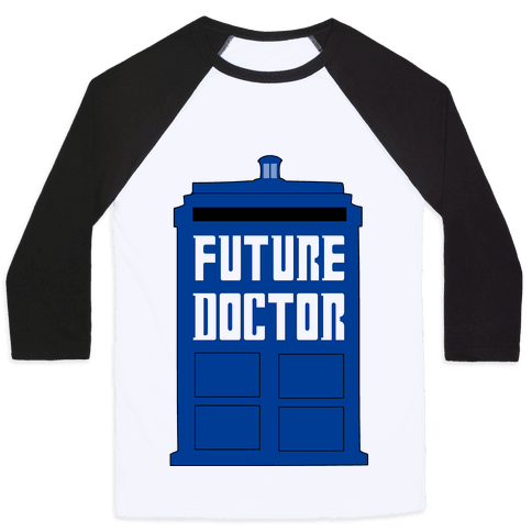 Future Doctor (Dr Who) Baseball Tee