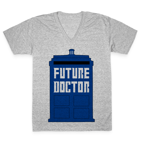 Future Doctor (Dr Who) V-Neck Tee Shirt