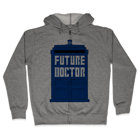 Future Doctor (Dr Who) Zip Hoodie
