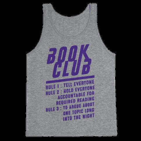 Book Club Rules Tank Top