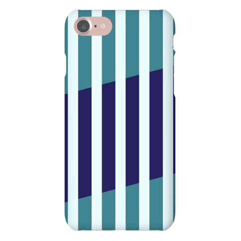 Cut Stripes Pattern Case (Blue) Phone Case