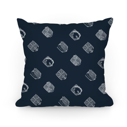 Attack On Titan Crest Pattern Pillow