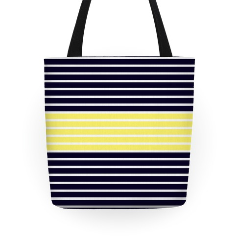 Navy and Yellow Stripe Tote Tote