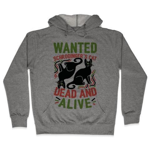 Wanted: Schrodinger's Cat, Dead And Alive Hooded Sweatshirt