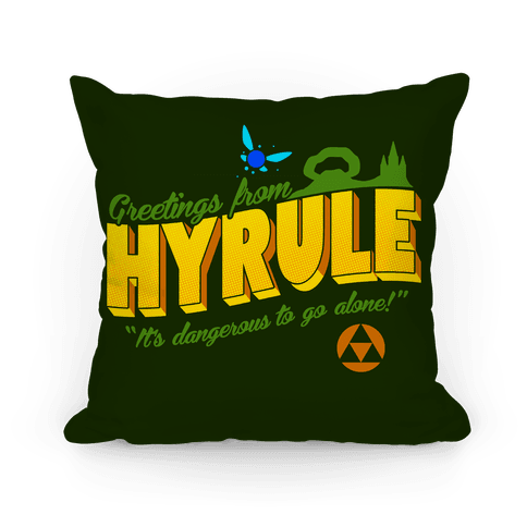 Greetings From Hyrule Pillow
