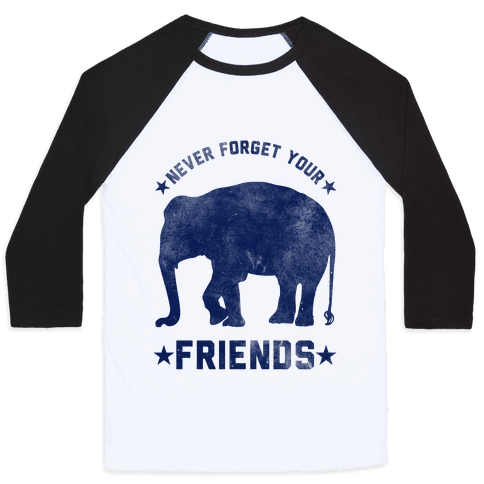 Never Forget Your Friends Baseball Tee
